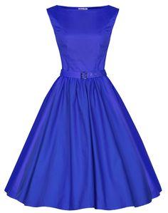 Lindy Bop 'Audrey' Hepburn Style Vintage 1950's Pastel Rockabilly Swing Dress Amazon