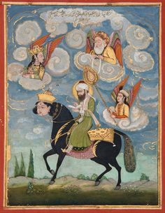 Portrait_of_the_Prophet_Muhammad_riding_the_buraq_steed