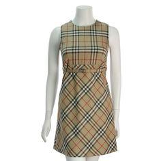 Burberry New Classic Check Wool Sleeveless Benita Dress - $249.99