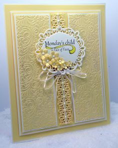 Wedding Card Hand Made Sue Wilson 39 Ideas For 2019 Spellbinders Cards, Embossed Cards, Beautiful Handmade Cards, Handmade Birthday Cards, Pretty Cards, Card Maker, Baby Cards, Flower Cards, Creative Cards