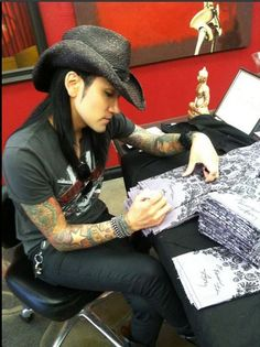 Ashley Purdy from Black Veil Brides in Amplified Death Head Tee