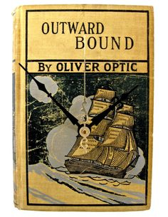 Outward Bound $60  // vintage book clock