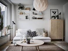 Scandinavian interior and design Home Living Room, Living Room Designs, Living Room Decor, Living Spaces, Small Living, Living Room Inspiration, Interior Inspiration, Small Apartments, Small Spaces