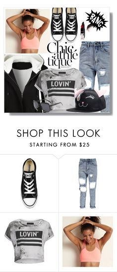"""Sporty chic!"" by wannanna ❤ liked on Polyvore featuring Converse, Religion Clothing, Aerie and Garance Doré"