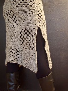 omⒶ KOPPA: virkkaus Crochet Granny, Crochet Stitches, Knit Crochet, Crochet Tops, Crochet Vest Pattern, Knitting Patterns, Crochet Patterns, Crochet Skirts, Crochet Clothes