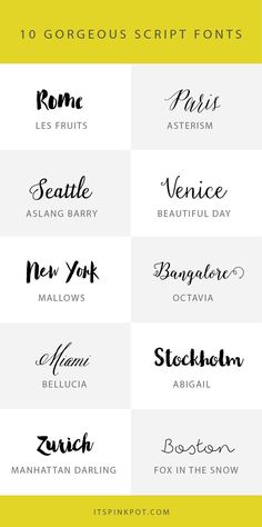 Here is a new installment of my recent favorite script fonts, some of them are free too. So if you are a font fanatic like me, enjoy!