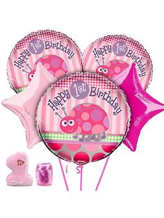 pink ladybug party decorations - Google Search