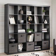 Living Room Shelves Divider - Better Homes and Gardens 25 Cube Organizer Room Divider, Solid Black Room Divider Shelves, Sliding Room Dividers, Shelf Dividers, Bookshelf Storage, Cube Bookcase, Cube Shelves, Display Shelves, Shelving, Room Shelves