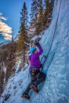 "Previous pinner: ""Ice climbing in the Canadian Rockies was incredible. We loved our climb in the mountains in Canmore, Alberta - one of the best ice climbing locations in the world! Climbing Everest, Best Travel Quotes, Ice Climbing, Canadian Rockies, Ultimate Travel, Months In A Year, Extreme Sports, Mountaineering, Canada Travel"