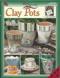 Flower Pot Craft Patterns | Donna Dewberry Clay Pots Decorative Tole Painting Craft Book