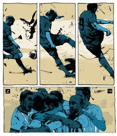 World Cup 2014 Simon Prades Illustrations Soccer Poses, Wave Illustration, Comic Tutorial, Football Art, Sports Graphics, Classic Comics, Daily Drawing, Sports Art, Art Reference Poses
