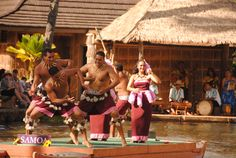 Canoe Pageant at the Polynesian Cultural Center in Hawaii