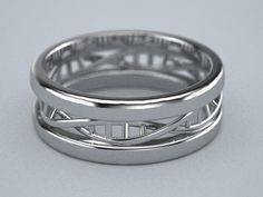 Sterling silver DNA band 8mm wide by Adam Richards. Now available on his website!