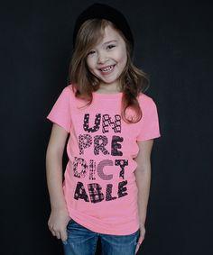 Love this Neon Pink 'Unpredictable' Tee - Girls on #zulily! #zulilyfinds