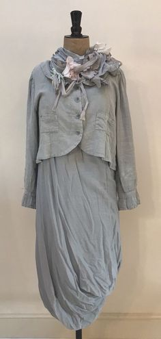 Les Ours Cropped Linen Powder Blue Jacket Size L Linen Fabric, Talbots, Fashion Clothes, Powder, Dress Up, Clothes For Women, Long Sleeve, Link, Pretty