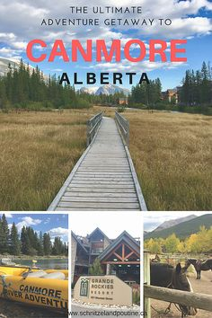 Hello our adventurous friends,we created an ultimate adventure getaway to Canmore for you. Many tourists and also locals spend their weekends in Banff or Jaspe Canada Travel, Canada Trip, Canada Eh, Western Canada, Canadian Rockies, Banff, British Columbia, Railroad Tracks, Road Trip