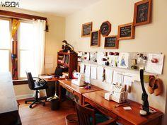 Sewing corner organization. http://weriem.com/