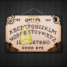 Ouija Board  Spooky Cross Stitch Pattern PDF File by Stitchykins, $5.00