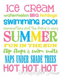 ReMarkable Home: SUMMER SUBWAY ART {Printable}