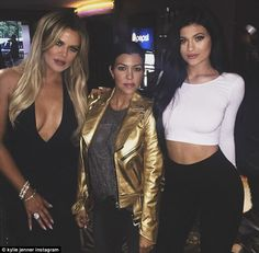 Busy day: Later on, Kylie was spotted wearing the same outfit at sister Khloe Kardashian's...