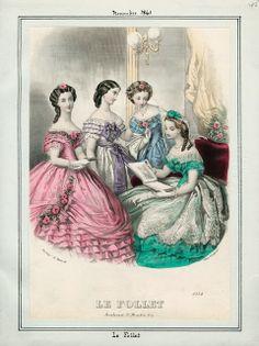 In the Swan's Shadow: Le Follet, November 1861.  Civil War Era Fashion Plate