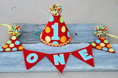 Hey, I found this really awesome Etsy listing at https://www.etsy.com/listing/213992335/boys-carnival-1st-birthday-party-hat