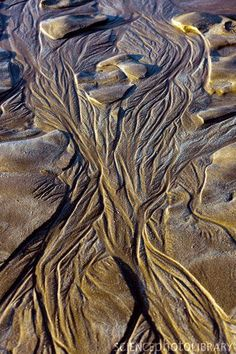Sand patterns at low tide.