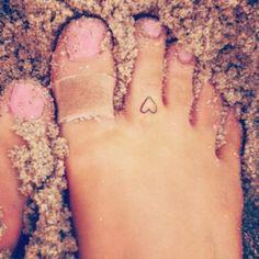 Ariana's heart tattoo on her foot! :)
