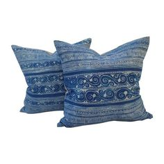 Image of Hill Tribe Batik Pillows - A Pair