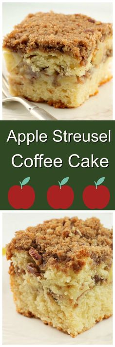 Apple Coffee Cake has a layer of streusel and apples in the center of the cake and a generous amount of streusel on top as well.