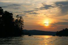 Amazing sunset on Lake Blue Ridge.