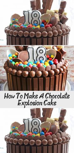7 Best Explosion Cake Images Cake Drip Cakes No Bake Cake