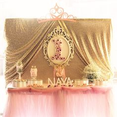 Sweet Table from a Pink & Gold Princess Party via Kara's Party Ideas | KarasPartyIdeas.com | The Place for All Things Party! (33)
