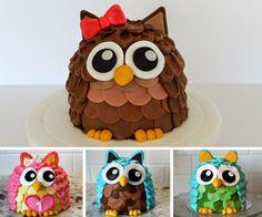 torta sova Ladybug Cakes, Cheap Party Decorations, Owl Cupcakes, Edible Arrangements, Chocolate Art, Fruit Art, Edible Art, Creative Food, Cake Designs