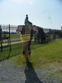 Our pirate scarecrow guarding the entrance to the Lighthouse