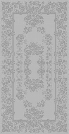 nappe fleurs Filet Crochet Charts, Crochet Doily Patterns, Crochet Doilies, Crochet Lace, Stitch Patterns, Crochet Table Runner, Crochet Tablecloth, Crochet Needles, Thread Crochet