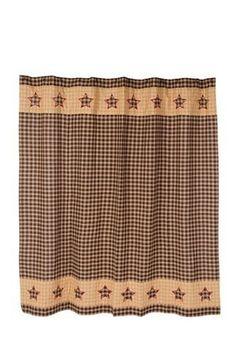Bingham Star Shower Curtain   Primitive Star Quilt Shop   1
