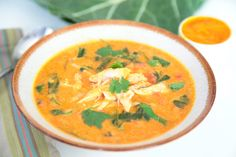 West African Peanut Stew has many variations (different spices, different vegetables) but one thing is always the same, the broth is thickened with peanut