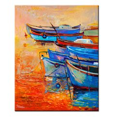 Hey, I found this really awesome Etsy listing at https://www.etsy.com/listing/171212705/original-oil-fishing-boats-16-x-20-in
