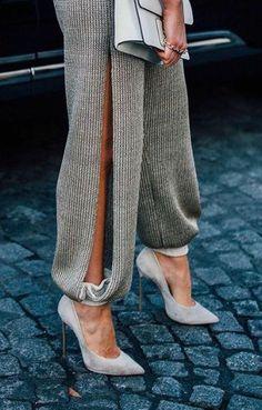 Pinterest: @julielingma | Chic Pants with Side Slit