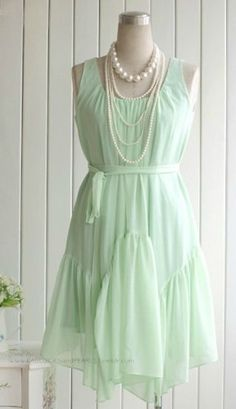 Find everything but the ordinary Mint Dress, Chiffon Maxi Dress, Dress Up, Dream Dress, The Ordinary, Pretty Dresses, Dress To Impress, Korean Fashion, Women's Fashion