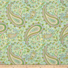 Designed by April Cornell for Free Spirit, this fabric is perfect for quilting, apparel and home decor accents. Colors include ivory, yellow, coral and aqua.