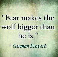 Fear makes the wolf bigger than he is. - German Proverb