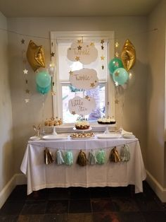 Twinkle little star Unisex Baby Shower, Baby Shower Fun, Baby Shower Parties, Baby Shower Themes, Baby Boy Shower, Baby Shower Decorations, Shower Ideas, Elegant Baby Shower, Gender Neutral Baby Shower
