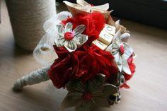 tuto bouquet mariée fleurs en papier et tissus