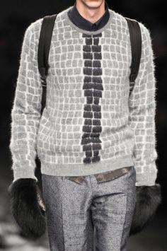 monsieurcouture:Fendi F/W 2014 Menswear Milan Fashion Week mensstyle grey