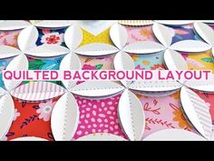 (1) How To Make a Quilted Background Layout - YouTube