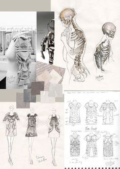 Fashion Sketchbook & work in progress // Organic Frameworks, fashion design development