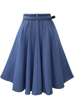 Feel as elegant as ever with every spin you take in the elastic waist midi skirt! This classic high-waisted midi skirt (made from denim fabric), has a full circle hem.