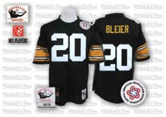 d975dd384 Rocky Bleier Pittsburgh Steelers Mitchell And Ness Black Team Color  Authentic Throwback Jersey